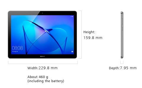 Размеры планшета